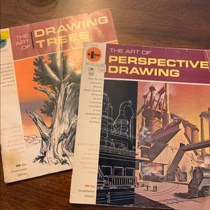 Vintage perspective drawing books from the 60's